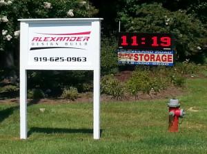 Alexander Design Build Sign